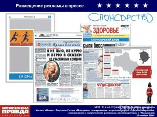 реклама в прессе и её эфективность